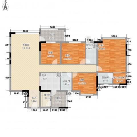 丰泰观山碧水4室1厅3卫1厨204.00㎡户型图