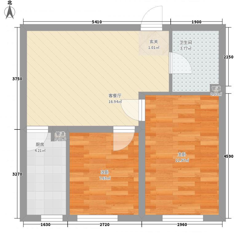 冠芳园二期65.97㎡冠芳园二期户型图2室1厅1卫户型10室