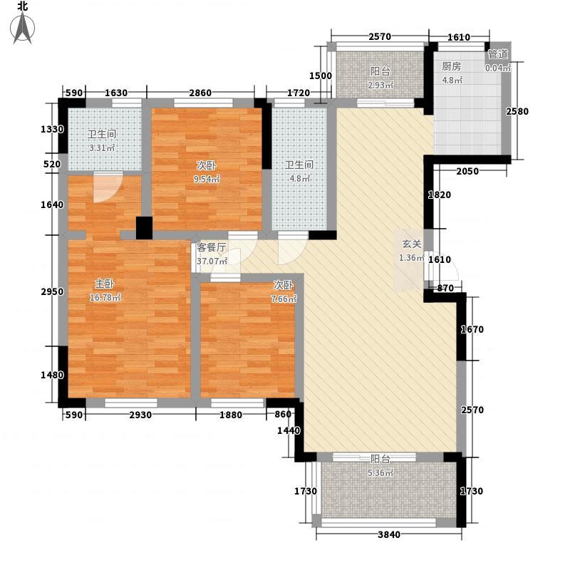 世纪阳光花园128.00㎡世纪阳光花园3室户型3室