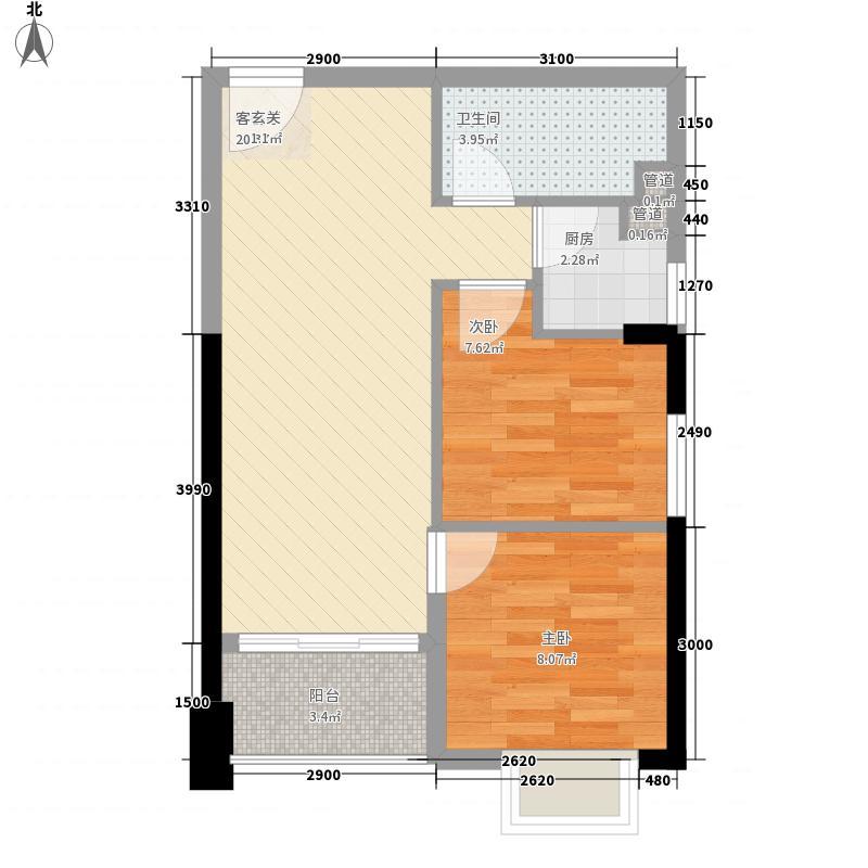 新隆青年城65.35㎡C户型2室1厅1卫1厨