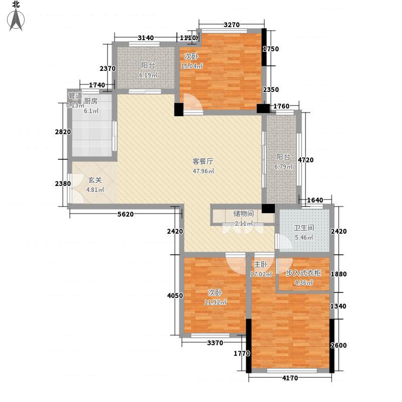 蓝天海岸176.00㎡蓝天海岸3室户型3室