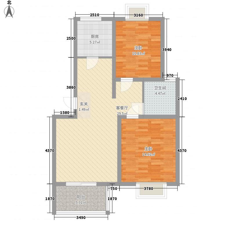 世纪阳光花园99.00㎡世纪阳光花园2室户型2室