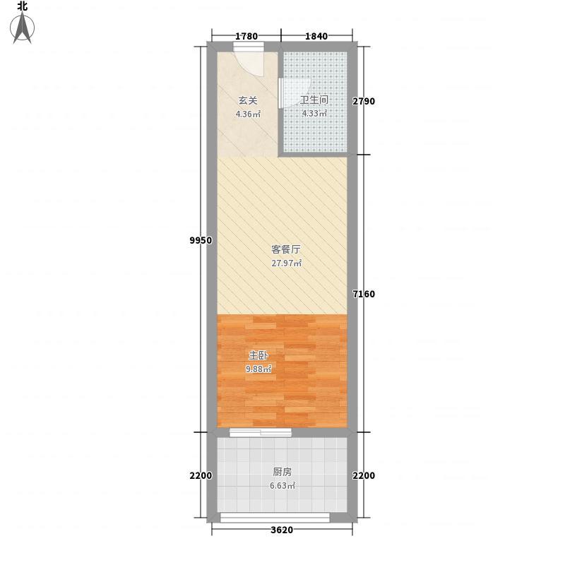 美生可乐公寓户型图三期公寓户型 1室1厅1卫1厨