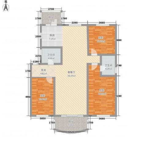 四季芳洲3室1厅2卫0厨120.82㎡户型图