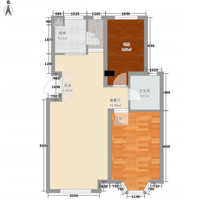 河畔新城三期91.00㎡河畔新城三期2室户型2室
