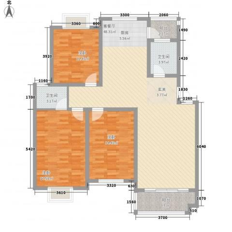 兴扬苑3室1厅2卫0厨151.00㎡户型图