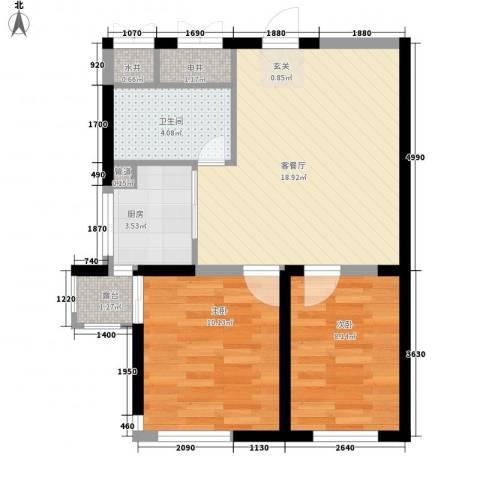 光明 学府世家2室1厅1卫1厨67.00㎡户型图
