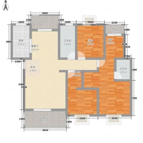 江南人家3室1厅2卫1厨149.00㎡户型图