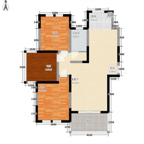 盛世新城3室1厅1卫0厨136.00㎡户型图