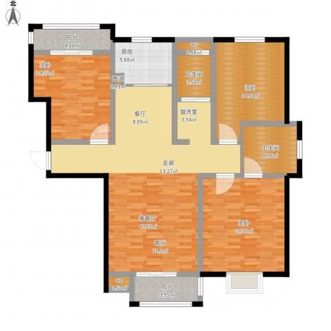 金水花园3室1厅2卫1厨172.00㎡户型图