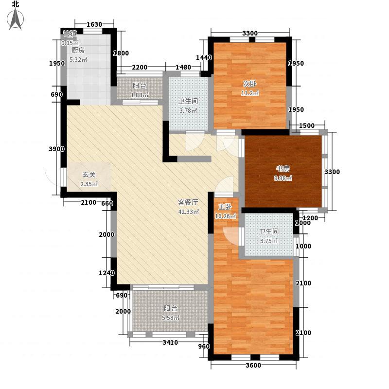 盛世新城166.00㎡一期5#楼户型3室2厅2卫