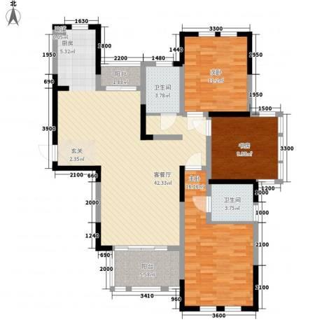 盛世新城3室1厅2卫0厨166.00㎡户型图