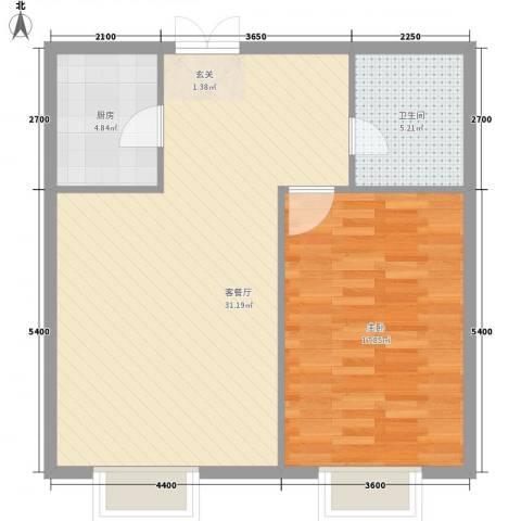 光达大厦1室1厅1卫1厨98.00㎡户型图