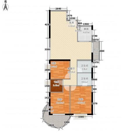 罗宾森广场4室1厅2卫1厨132.00㎡户型图