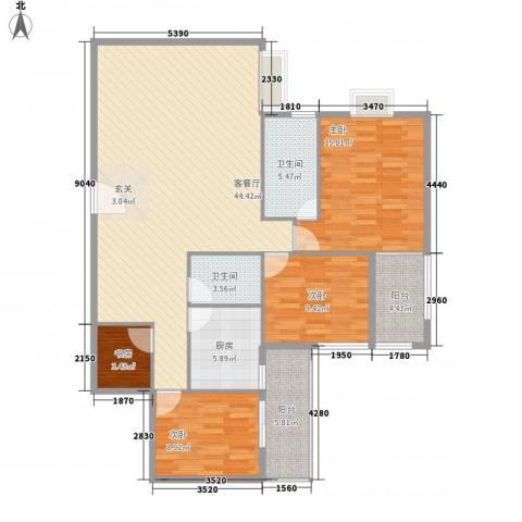 罗宾森广场4室1厅2卫1厨146.00㎡户型图