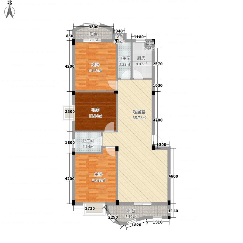 世纪景城114.56㎡世纪景城户型图3室2厅2卫1厨户型10室