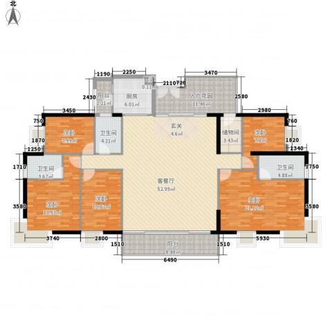 东山欣园5室1厅3卫1厨220.00㎡户型图