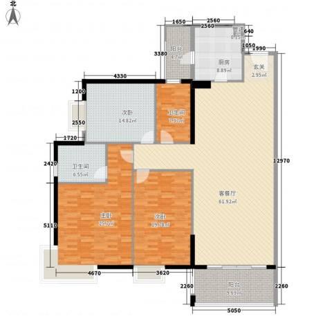 东山欣园3室1厅2卫1厨220.00㎡户型图