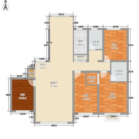 宏润翠湖天地4室1厅2卫1厨171.00㎡户型图