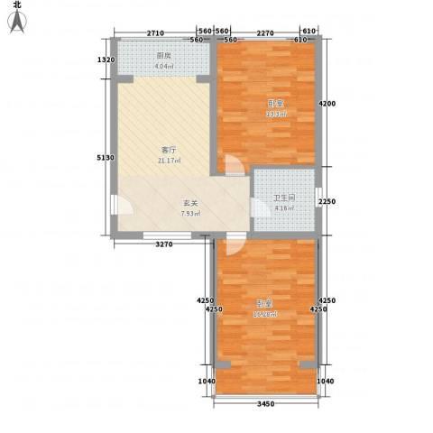 汇金1厅1卫0厨78.00㎡户型图