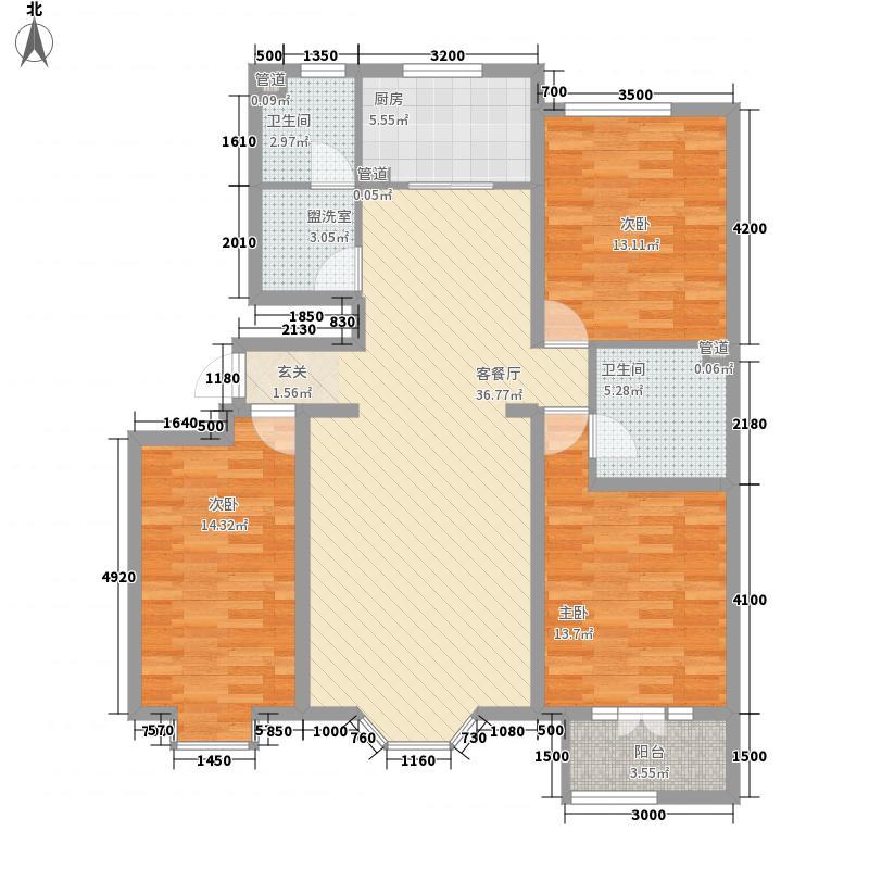 三隆世纪城131.00㎡三隆世纪城3室户型3室