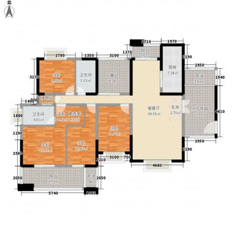 坝陵北街省建五公司宿舍4室1厅2卫1厨209.00㎡户型图