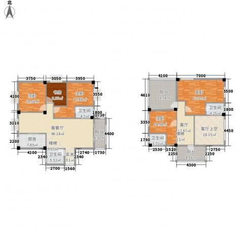 御之苑5室2厅4卫1厨219.37㎡户型图