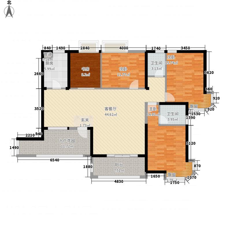 格林威治171.98㎡格林威治户型图3#01户型4室2厅2卫1厨户型4室2厅2卫1厨