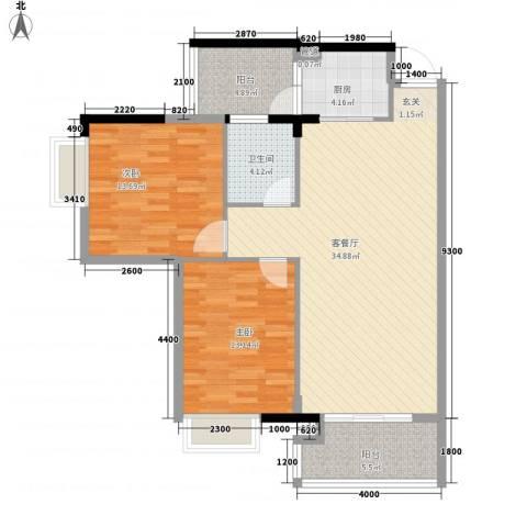 建安广场(塘厦)2室1厅1卫1厨113.00㎡户型图