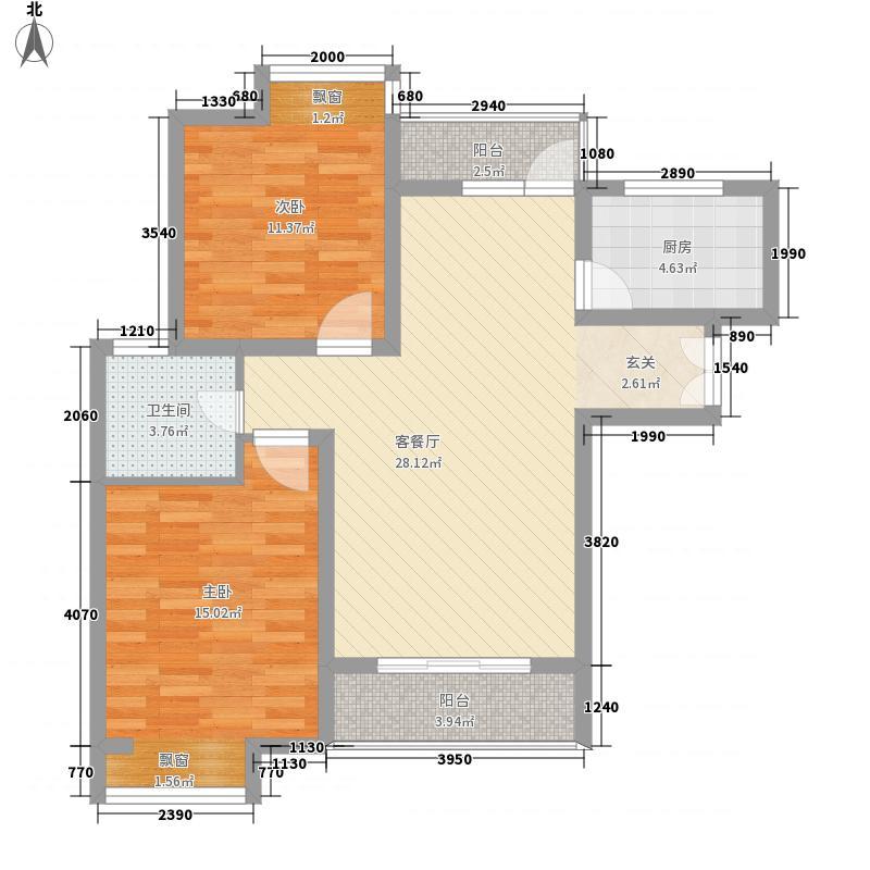 融创天鹅湖100.00㎡融创天鹅湖户型图2室户型图2室2厅1卫1厨户型2室2厅1卫1厨