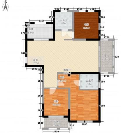 盛世新城3室1厅2卫1厨148.00㎡户型图