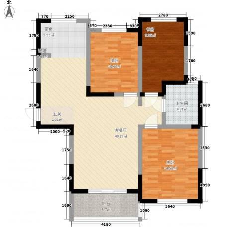 盛世新城3室1厅1卫0厨123.00㎡户型图