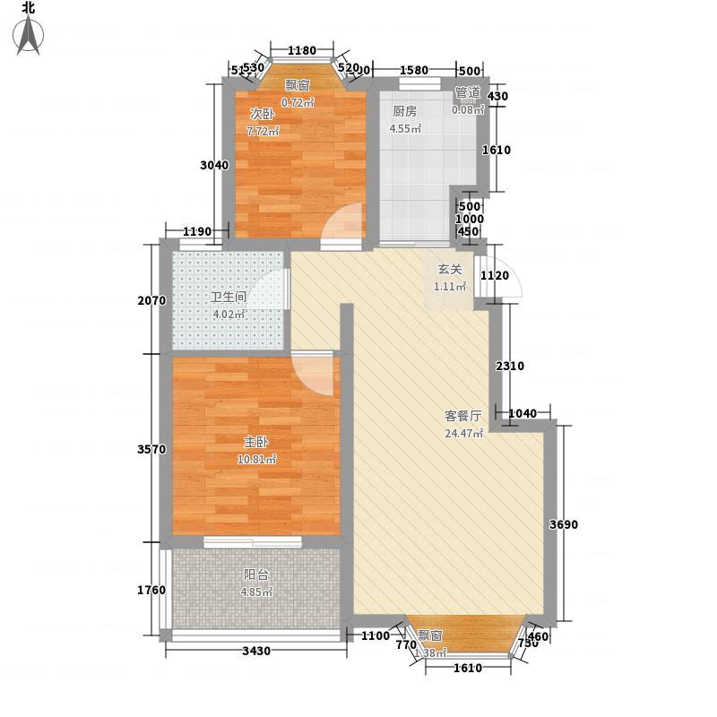 红星苑81.00㎡红星苑2室户型2室