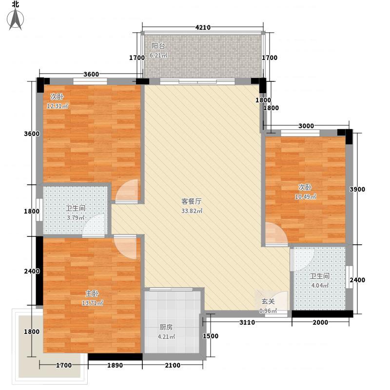 滨河湾小区145.00㎡滨河湾小区3室户型3室