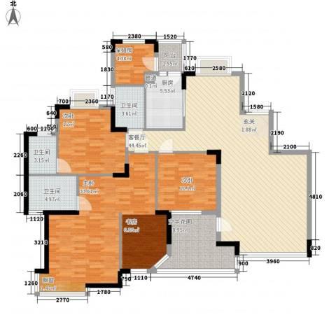 中新国际3室1厅3卫1厨167.00㎡户型图