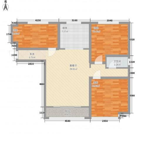 九源・书香园3室1厅1卫0厨117.00㎡户型图