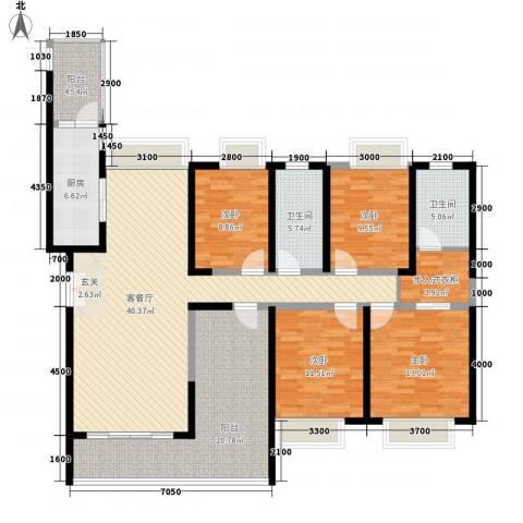 中海桃花源4室1厅2卫1厨175.00㎡户型图
