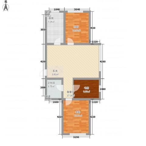 托斯卡纳3室1厅1卫1厨99.00㎡户型图