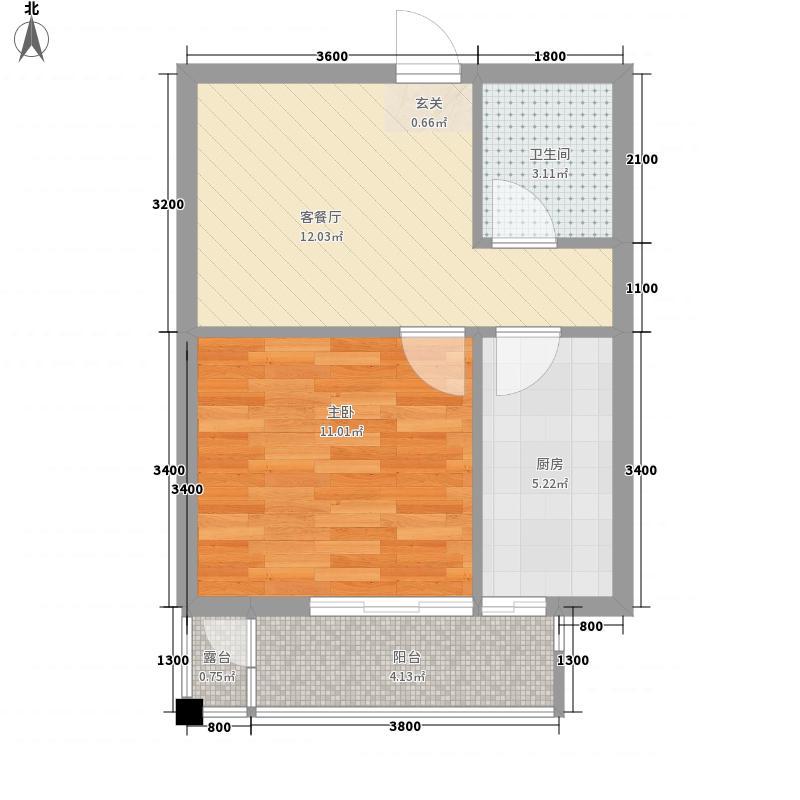 滑翔一小区39.00㎡滑翔一小区1室户型1室