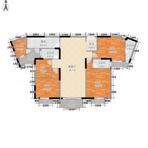 保利林语山庄4室1厅3卫1厨178.00㎡户型图