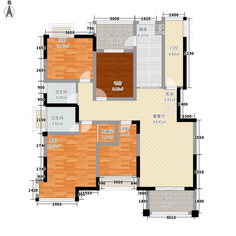 琥珀・东岸29#楼A1户型