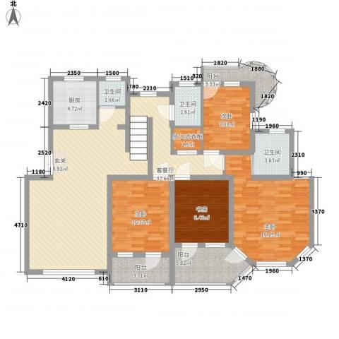 宝盛钻石半岛4室1厅3卫1厨156.00㎡户型图