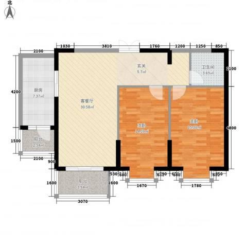 兴旺小区2室1厅1卫1厨109.00㎡户型图