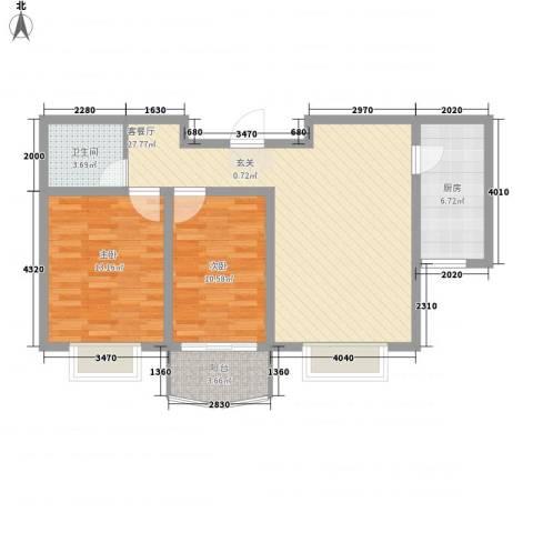 阳光柳岸2室1厅1卫1厨94.00㎡户型图