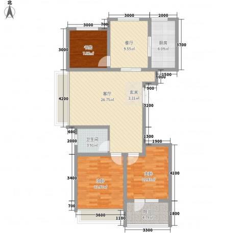兴旺小区3室2厅1卫1厨119.00㎡户型图