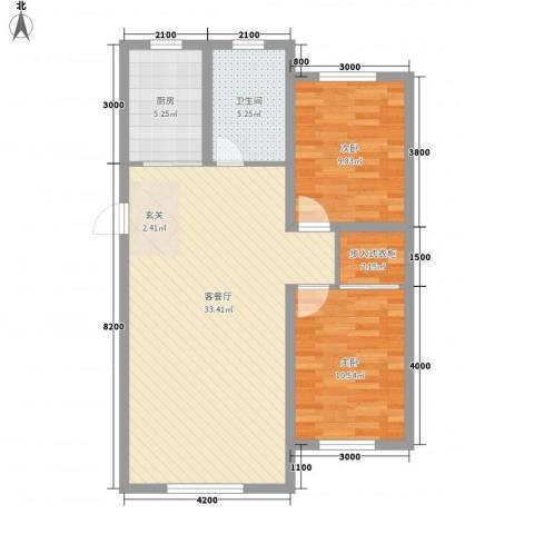 宝来雅居2室1厅1卫1厨93.00㎡户型图
