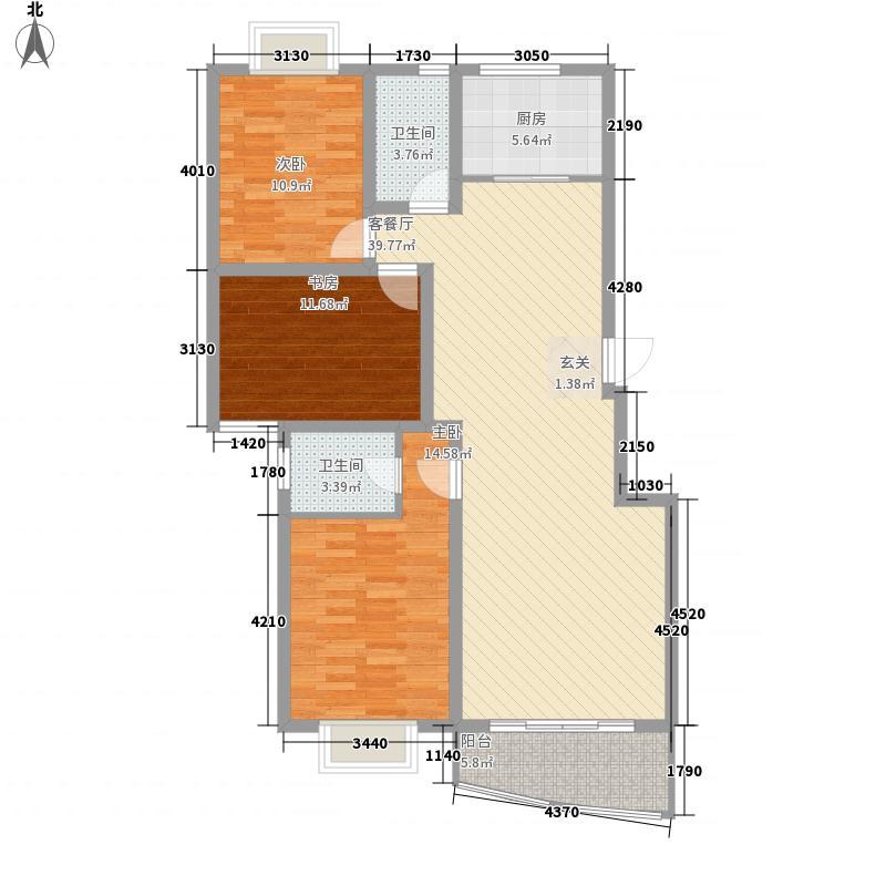 阳光柳岸135.48㎡阳光柳岸户型图3室2厅2卫1厨户型10室