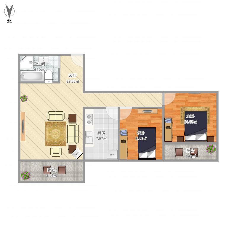 厦门-古龙商城542号402-设计方案