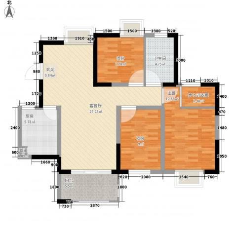 花样年别样城3室1厅1卫1厨103.00㎡户型图