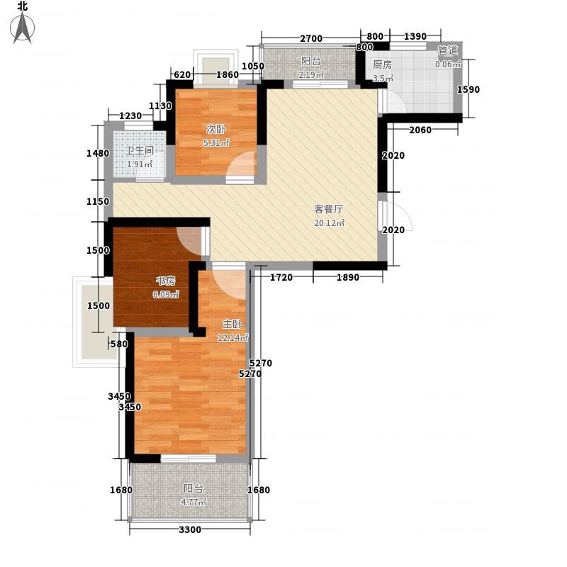 国强幸福彼岸84.09㎡国强幸福彼岸户型图12#G2户型3室2厅1卫1厨户型3室2厅1卫1厨